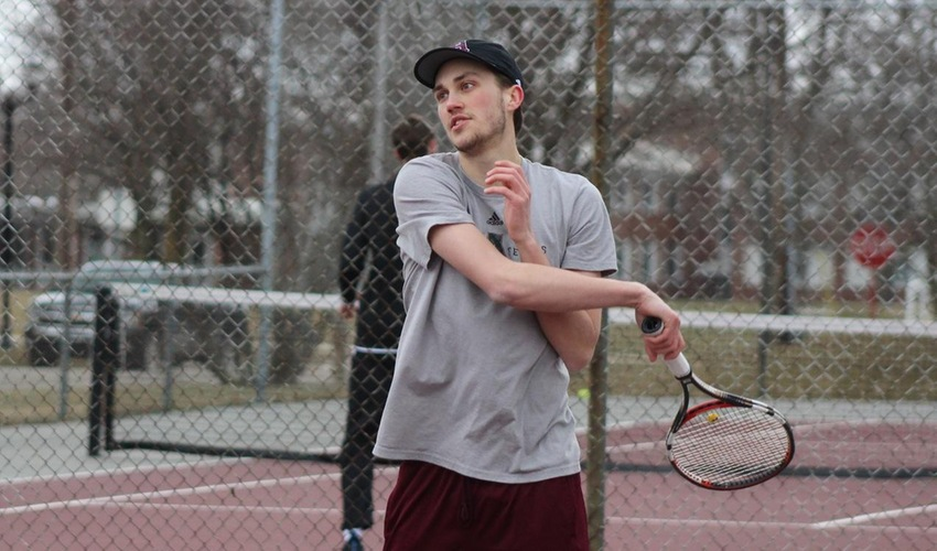 Ralston Wins Lone Game for Men's Tennis