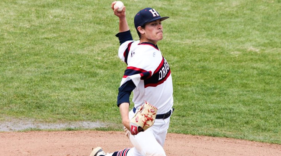 Brian Skillman tossed four hitless innings with eight strikeouts in a 7-0 win in Game 2 vs. the Sterling College JV on Wednesday at Hobart-Detter Field. (Bre Rogers/Blue Dragon Sports Information)