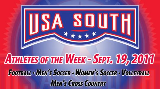 USA South Athletes of the Week - Sept. 19, 2011