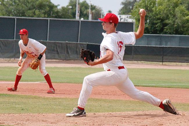 Garrett Bowman recorded a three and one third inning save (Photo by Jacob Dewald)