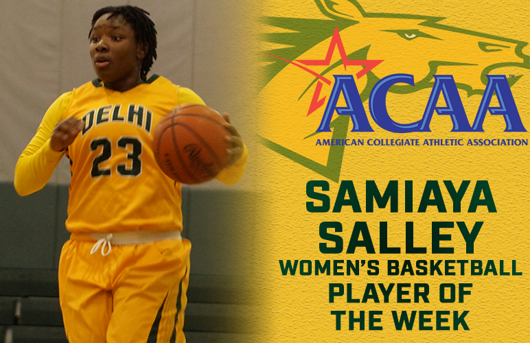 Salley Garners Second ACAA Weekly Honor of Season, Fourth of Career