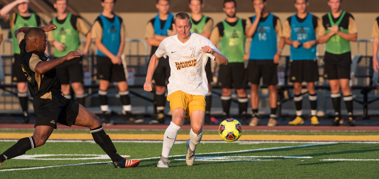 Junior Academic All-OAC forward Cannon Dees recorded a goal and an assist in BW?s 2-1 win over Wooster (Photo courtesy of Jesse Kucewicz)