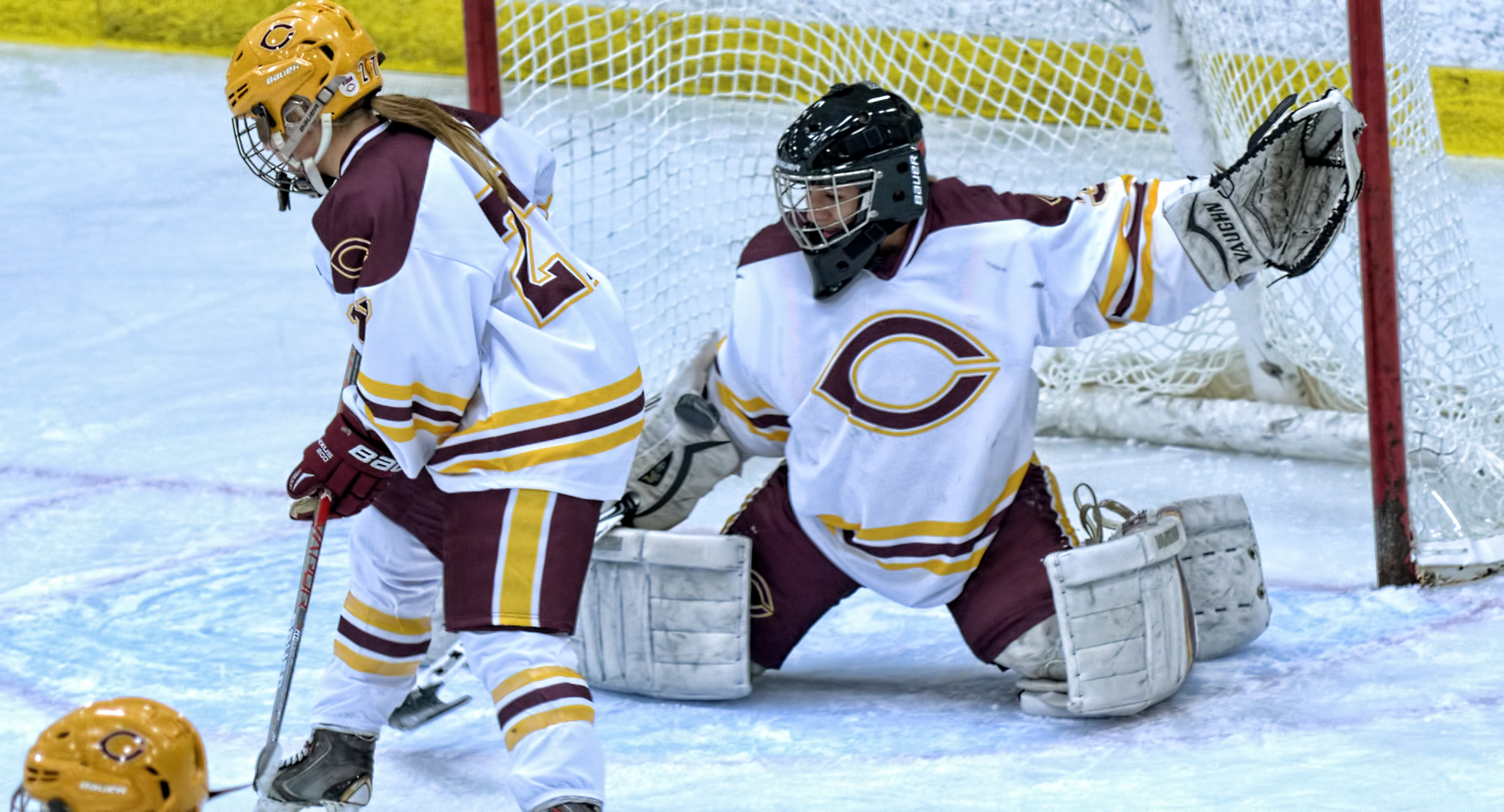 Brittany Boss made 23 saves in the Cobbers' 5-3 win over St. Catherine in the MIAC opener.