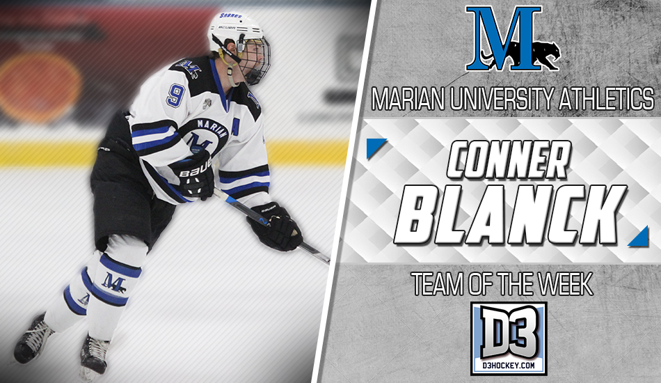 Blanck adds D3Hockey.com Team of the Week honor