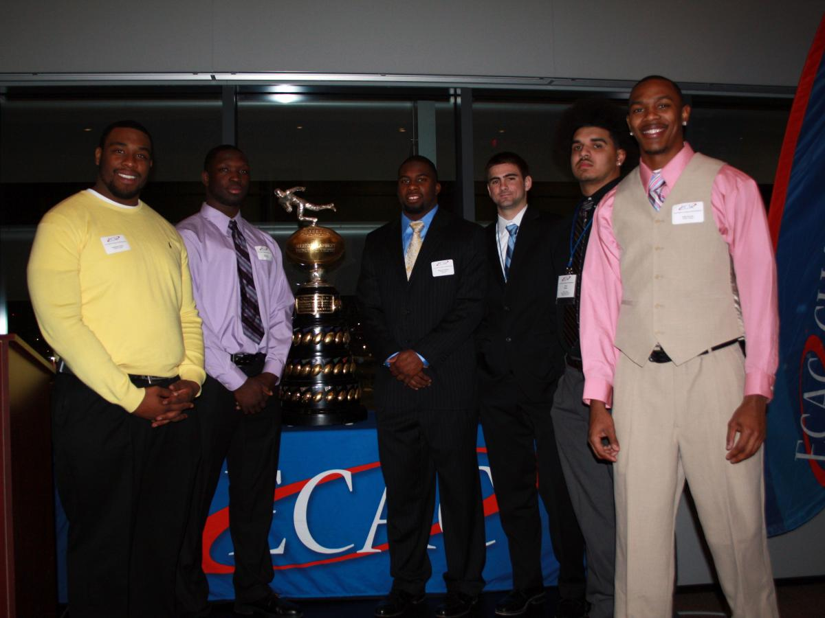 Wesley's ECAC All-Stars with the Lambert Meadowlands Trophy