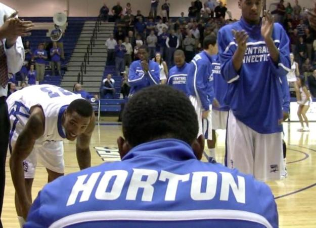 Horton became the school's all-time leading scorer on Saturday