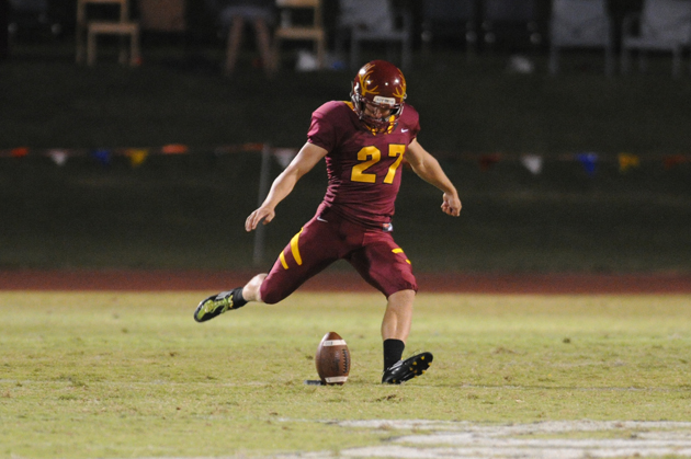 D3Football.com and SCIAC select kicker Aven for weekly awards