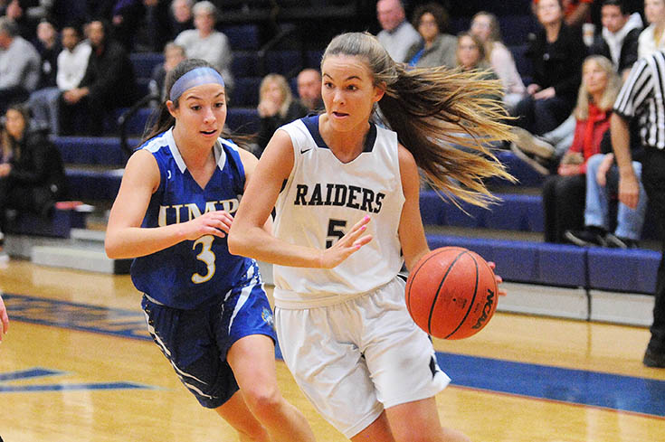 Women's Basketball: A pair of double-doubles guide Raiders to victory