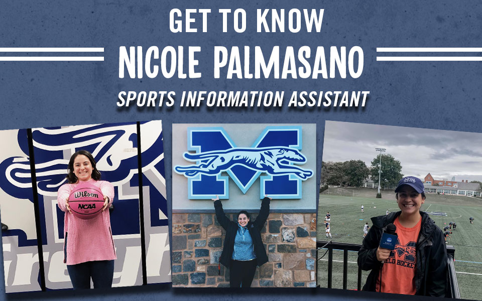 Sports Information Assistant Nicole Palmasano and pictures around campus.