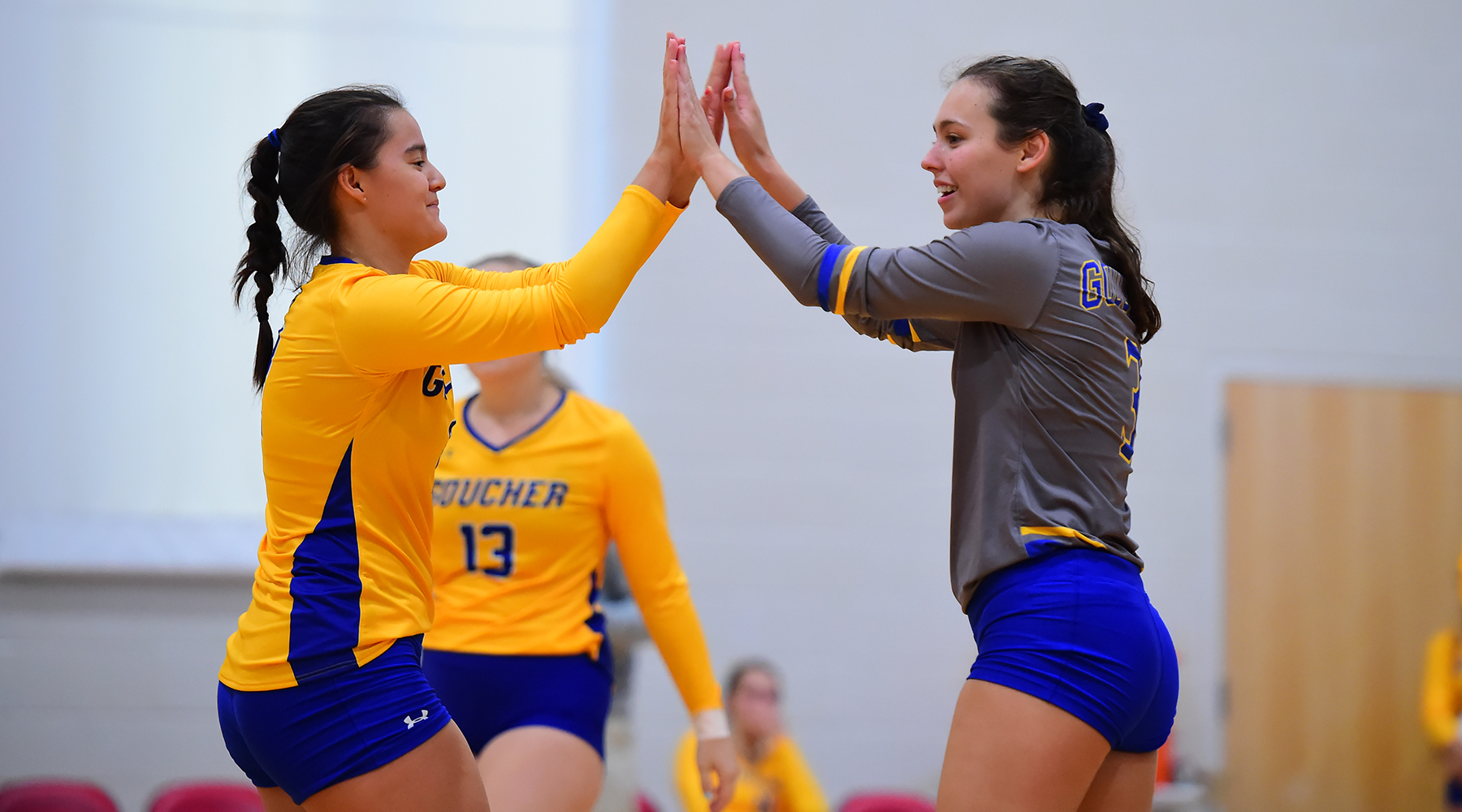 Volleyball Erases 2-0 Deficit, Takes Thriller over Hollins in Five Sets
