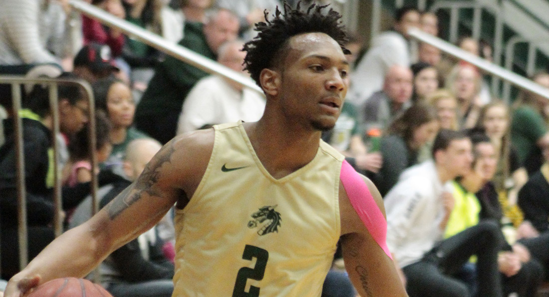 Terrell Mabins scored 19 points on 6 of 13 shooting from the field in Tiffin's overtime loss to Saginaw Valley State.