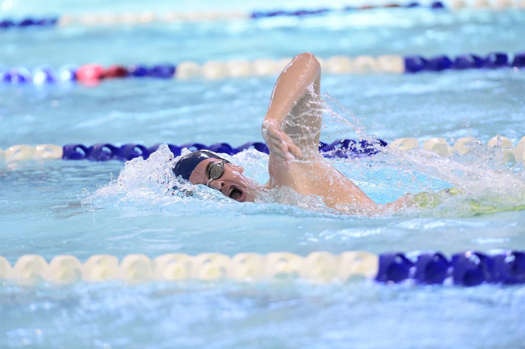 Men's Swimming and Diving Take Lead at Fredonia Invite
