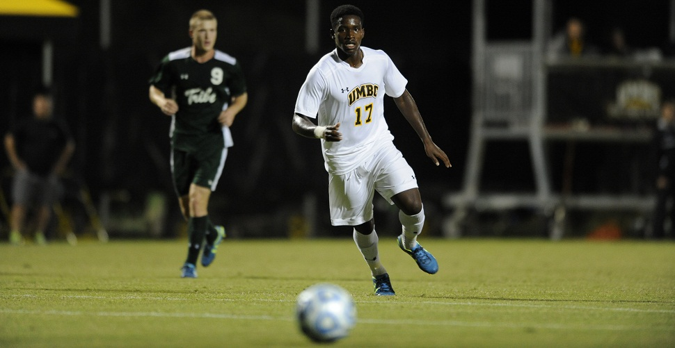 Banjo Nets Game-Winner as Men's Soccer Opens AE Play With 2-1 Triumph