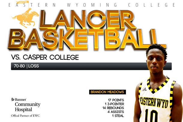 EWC Lancer Basketball team vs. Casper College Basketball team
