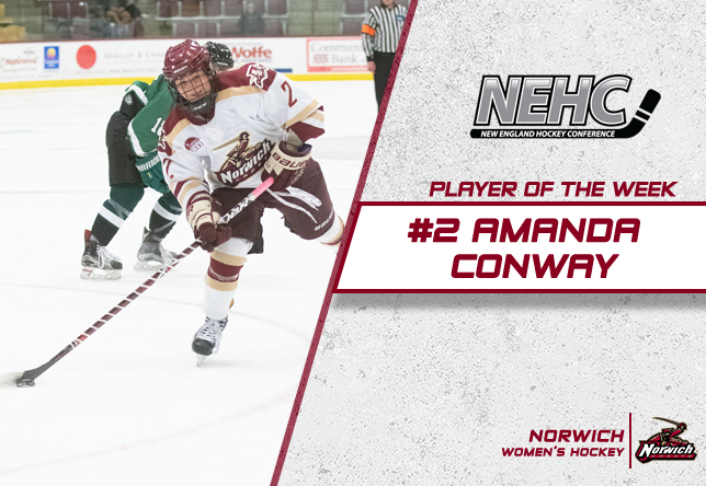 Amanda Conway NEHC Player of the Week