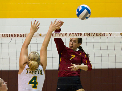 Ferris State Volleyball Victorious In Five-Set Contest