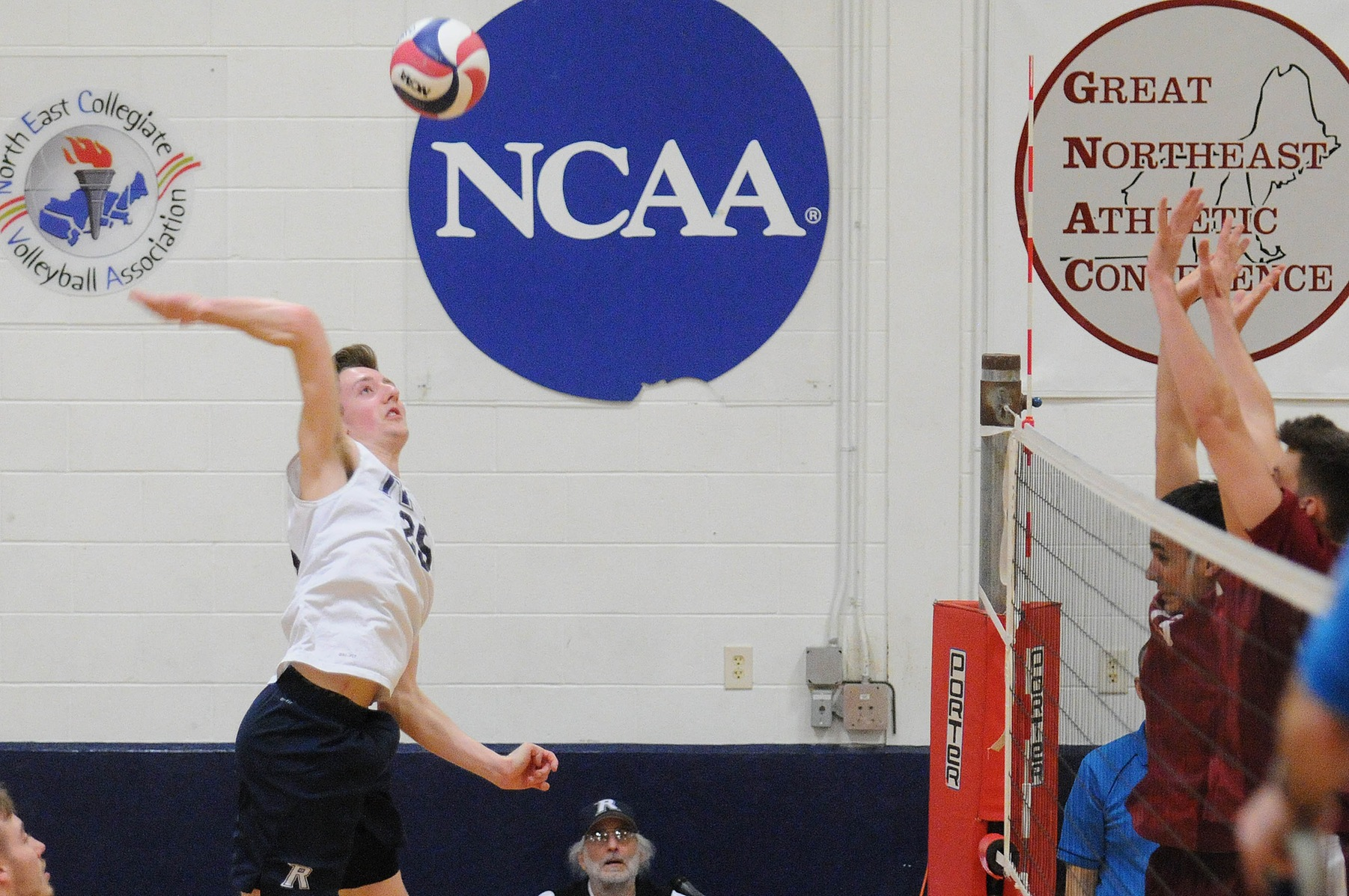 Men's Volleyball: Raiders edge the Saints 3-0 in first conference showdown.