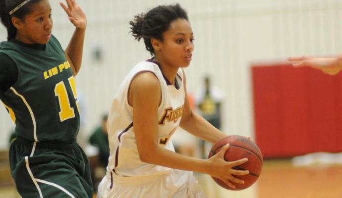 Sophomore Tajruba Baldwin-Kollore registered 11 points and three steals in her first start of the 2013-14 season.