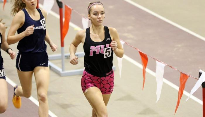 Women's Indoor Track & Field participates in the All-Ohio Combined Event