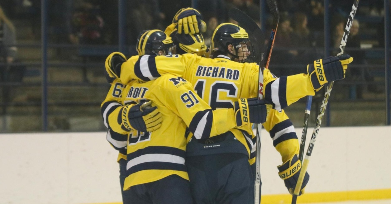 Groat scores four, No. 2 Wolverines win 8-1