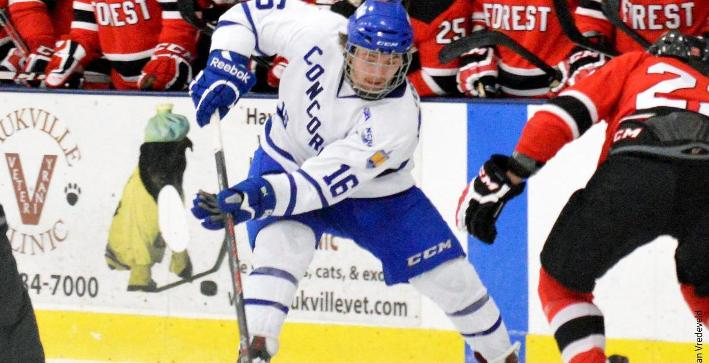 Northland scores two late goals to down Men's Hockey