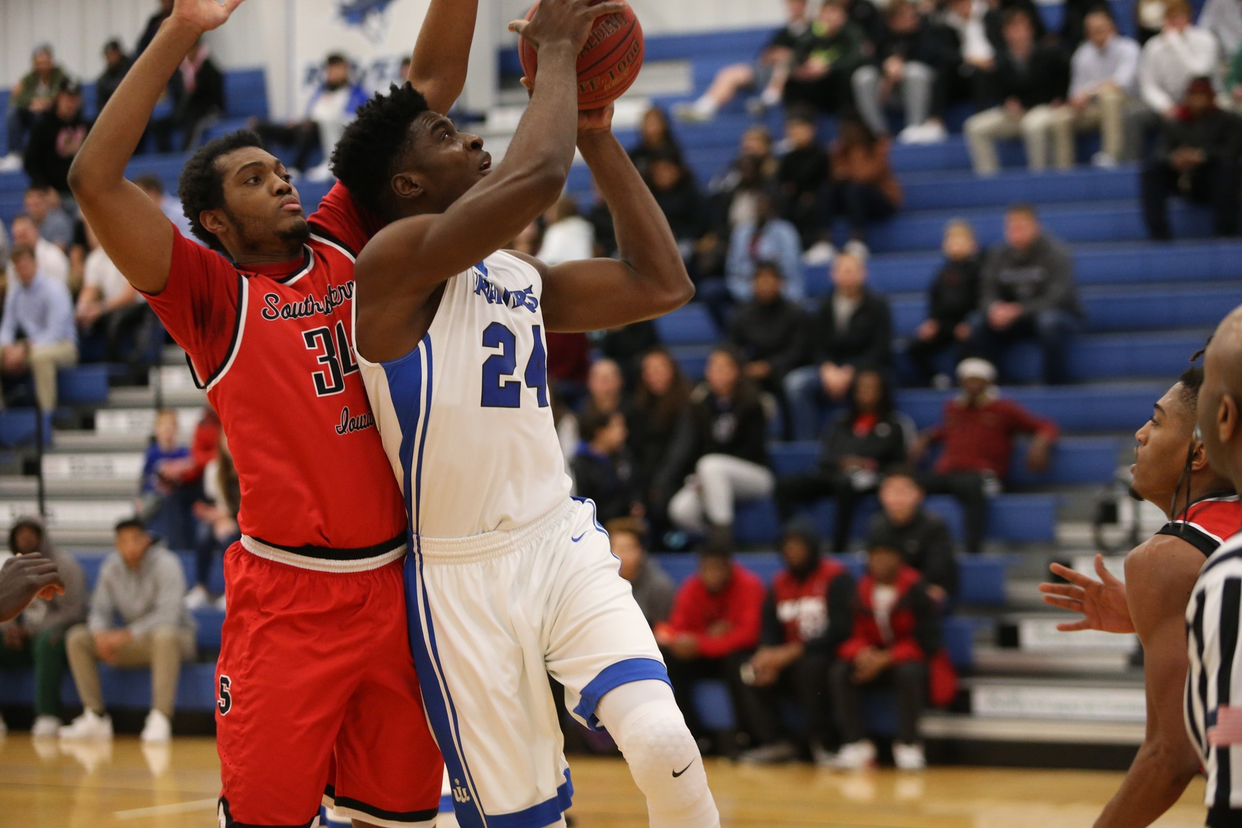 Emmanuel Ugboh helped lead ten-win Iowa Western over ten-win Northwest Kansas Tech to an 84-73 victory in the championship game of the Iowa Western Basketball Classic.