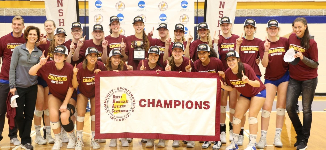 Champions Again! Women's Volleyball Wins Fourth-Straight GNAC Title