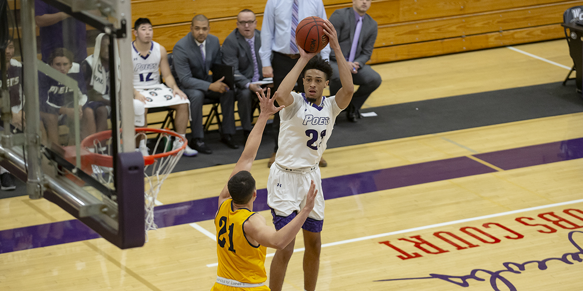 Poets win three straight; Beat Chapman 80-67