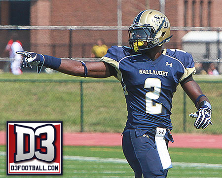 Gallaudet's Tony Tatum selected to the 2012 D3football.com All-America fourth team defense