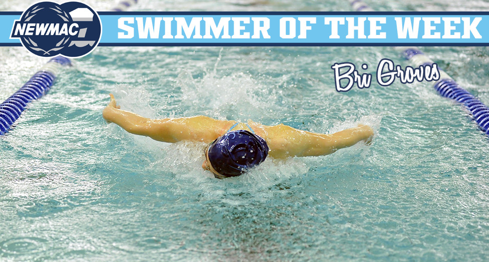 Groves Named NEWMAC Swimmer of the Week