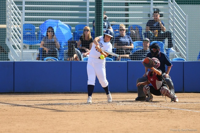 Keira Bolinas drove in a pair of runs with this base hit and came around to score on an Lancers error