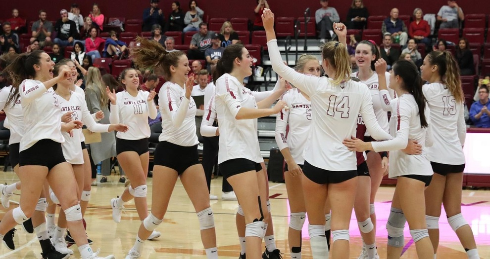 Volleyball Prevails in Four Sets Against LMU on Senior Day