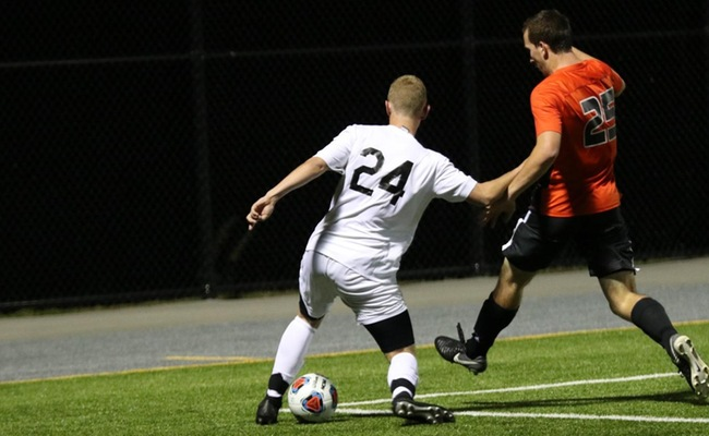 Joshua Card (24) scored a goal and added an assist for Keuka College on Saturday