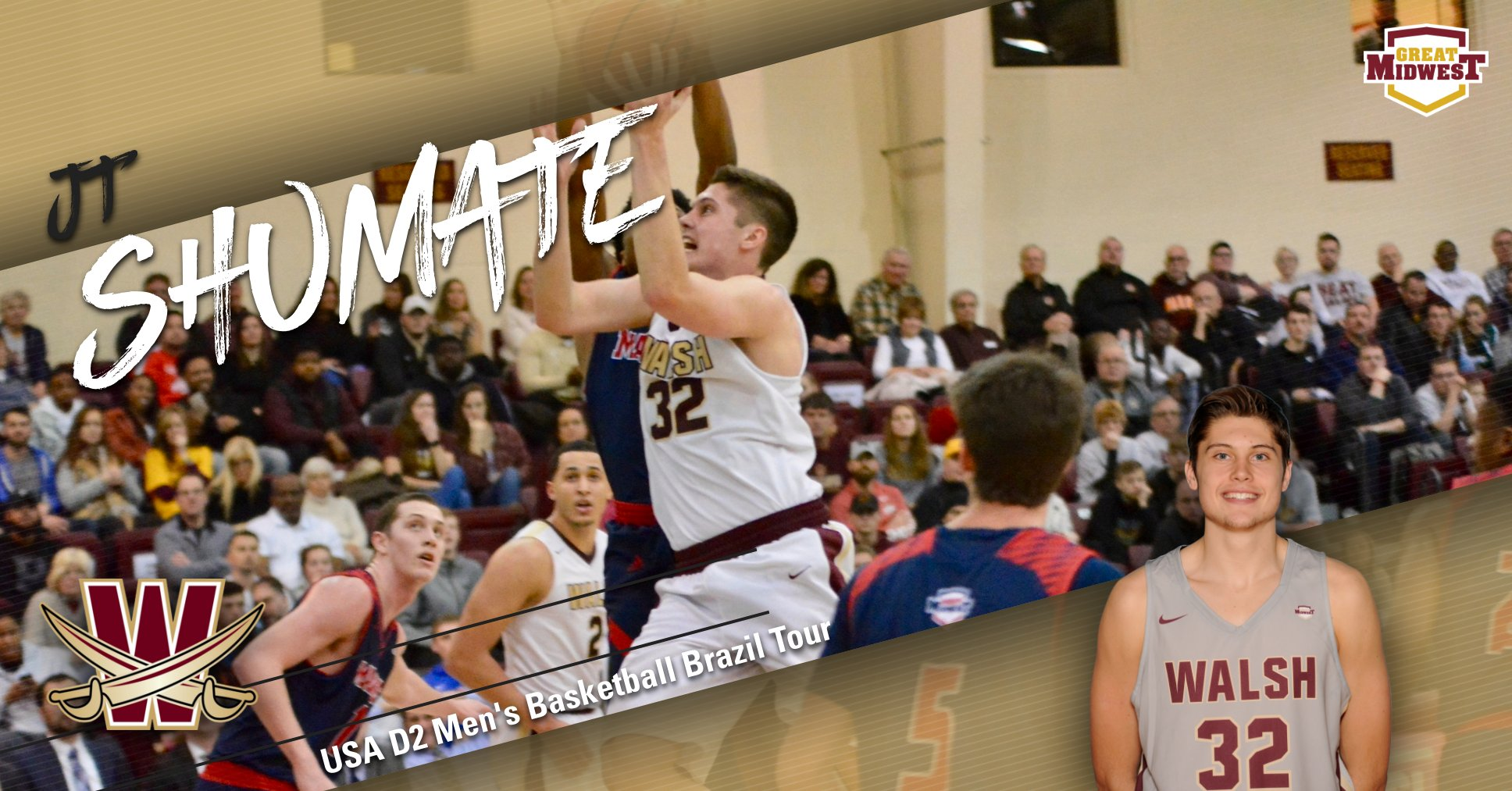 JT Shumate Named to USA D2 Men's Basketball Tour in Brazil