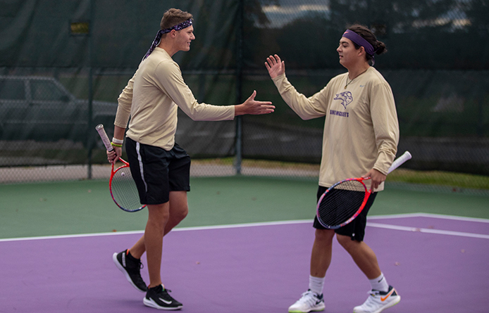 Men's Tennis Caps Season with Loss at Regionally-Ranked Le Moyne