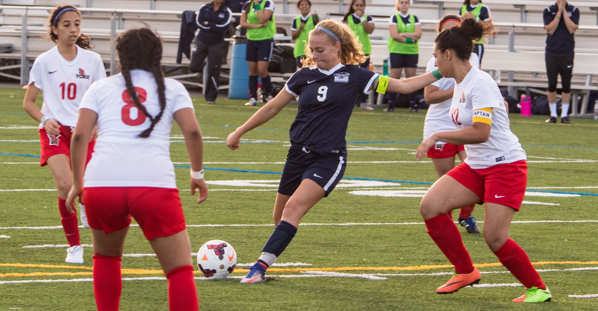 Rookies Help Power Women's Soccer to One-Sided Win Over York