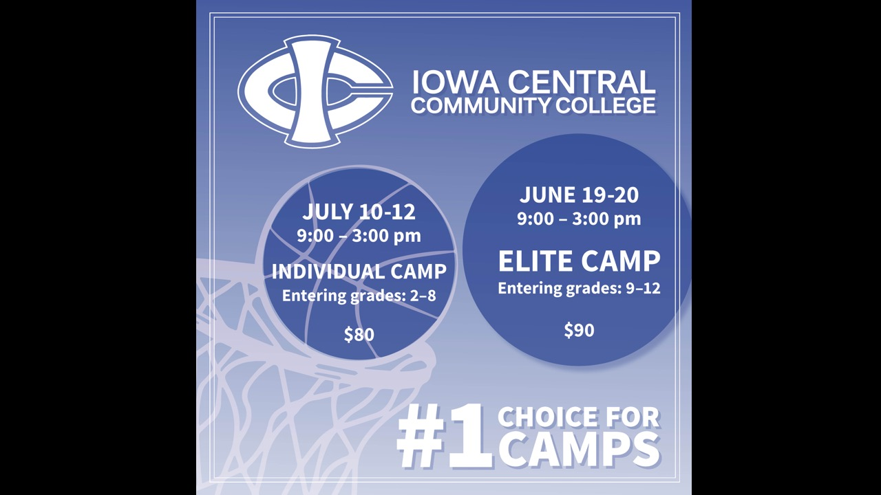 Iowa Central Women's Basketball Summer Camp Info