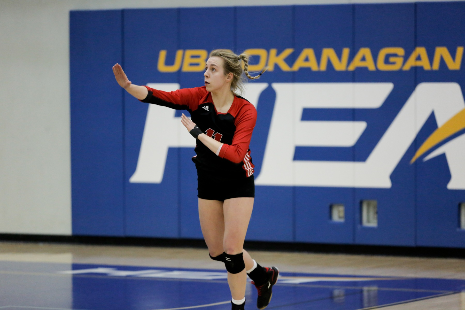 Jessica Friesen had seven kills on 10 swings with no errors in the Wesmen loss in Kelowna on Friday. (Cary Mellon/UBCO)