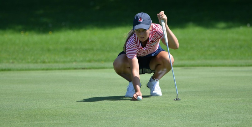 Emily Barker is tied for the first round lead after a one-under 71 on Saturday...