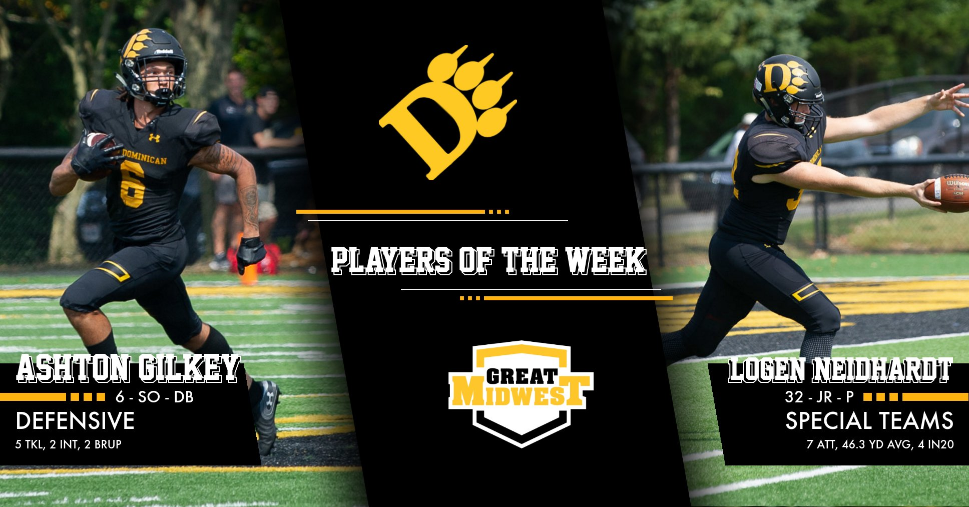 Gilkey, Neidhardt named G-MAC Players of the Week