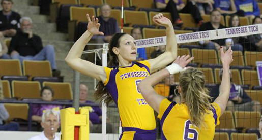Golden Eagle volleyball team drops match-up at SIUE
