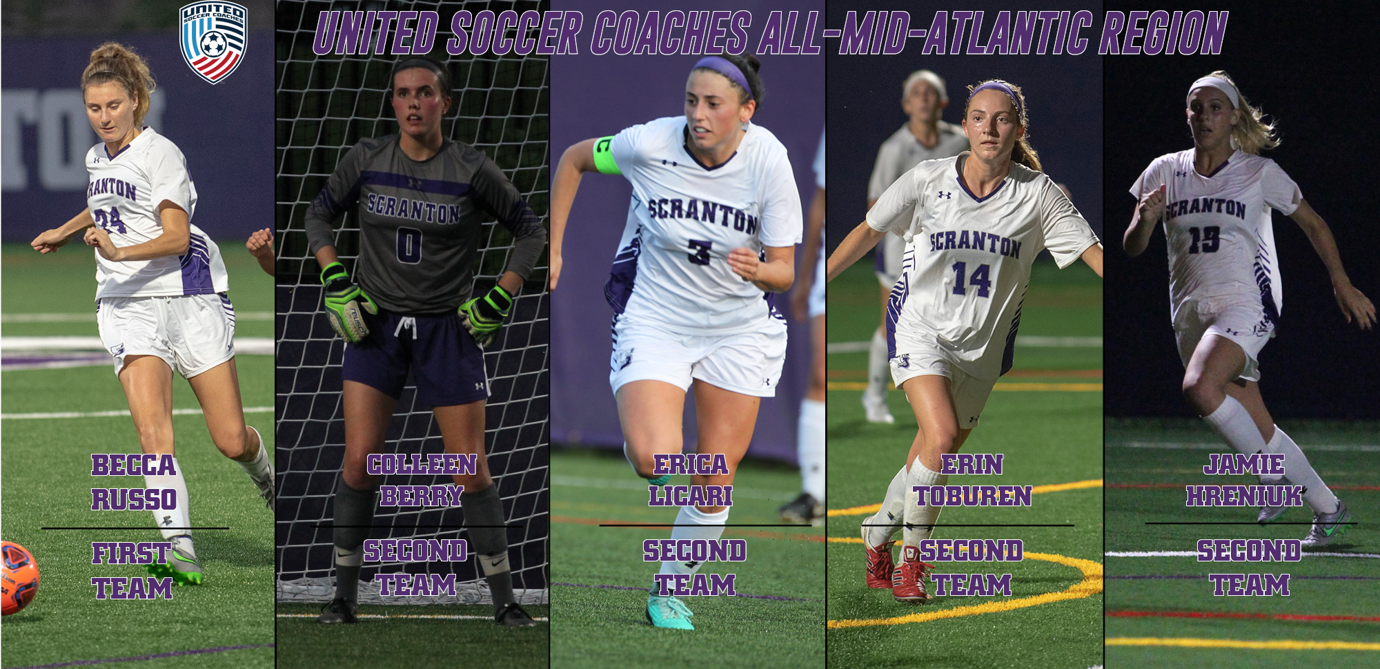Record Setting: Five Women's Soccer Players Nab United Soccer Coaches All-Mid-Atlantic Region Honors