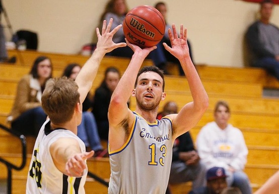 Senior Matt Raine recorded a double-double with 14 points and a game-high 12 rebounds