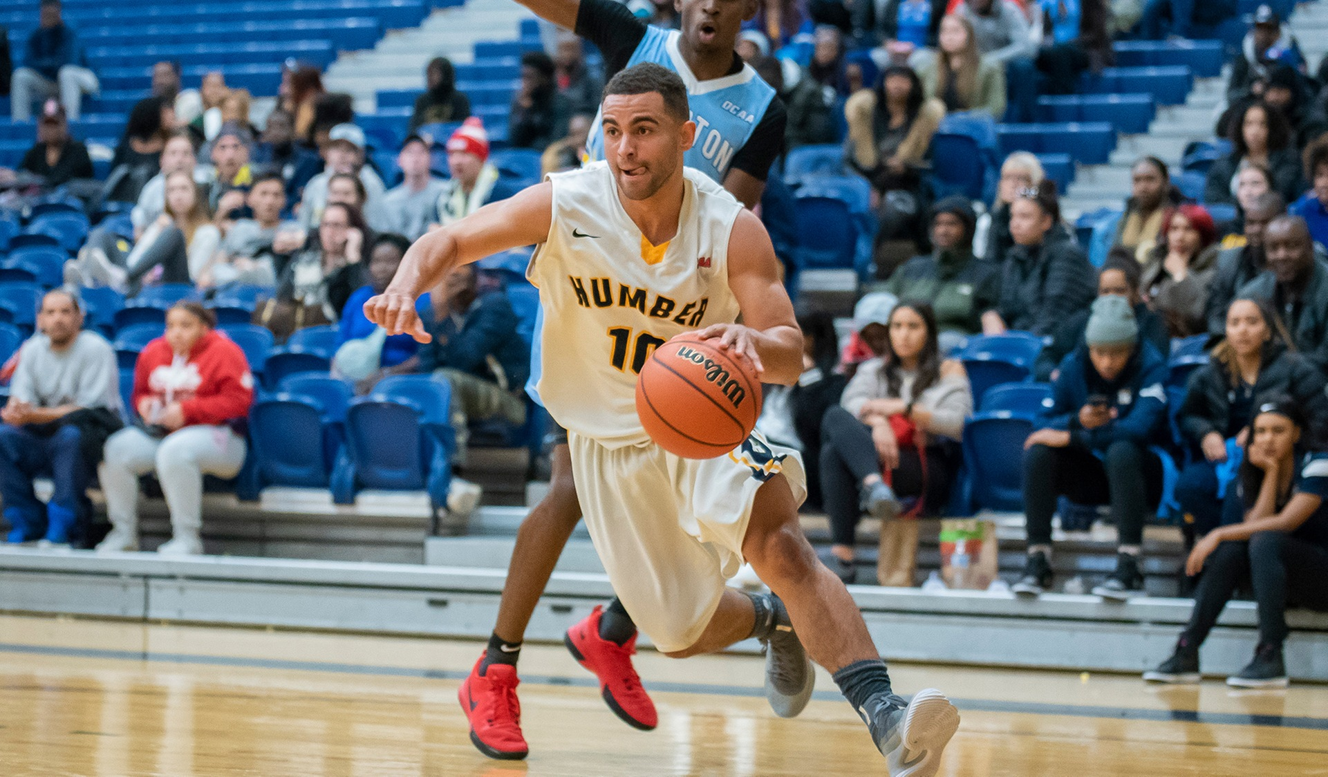 No. 3 MEN'S BASKETBALL HITS CENTURY MARK IN ROAD WIN OVER LAMBTON, 100-82