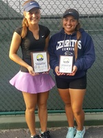 (L-R) - Petra Such and Diviana Bravo played in the conference singles championship match.