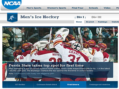Ferris State is #1 in the nation! (Image courtesy www.ncaa.com)