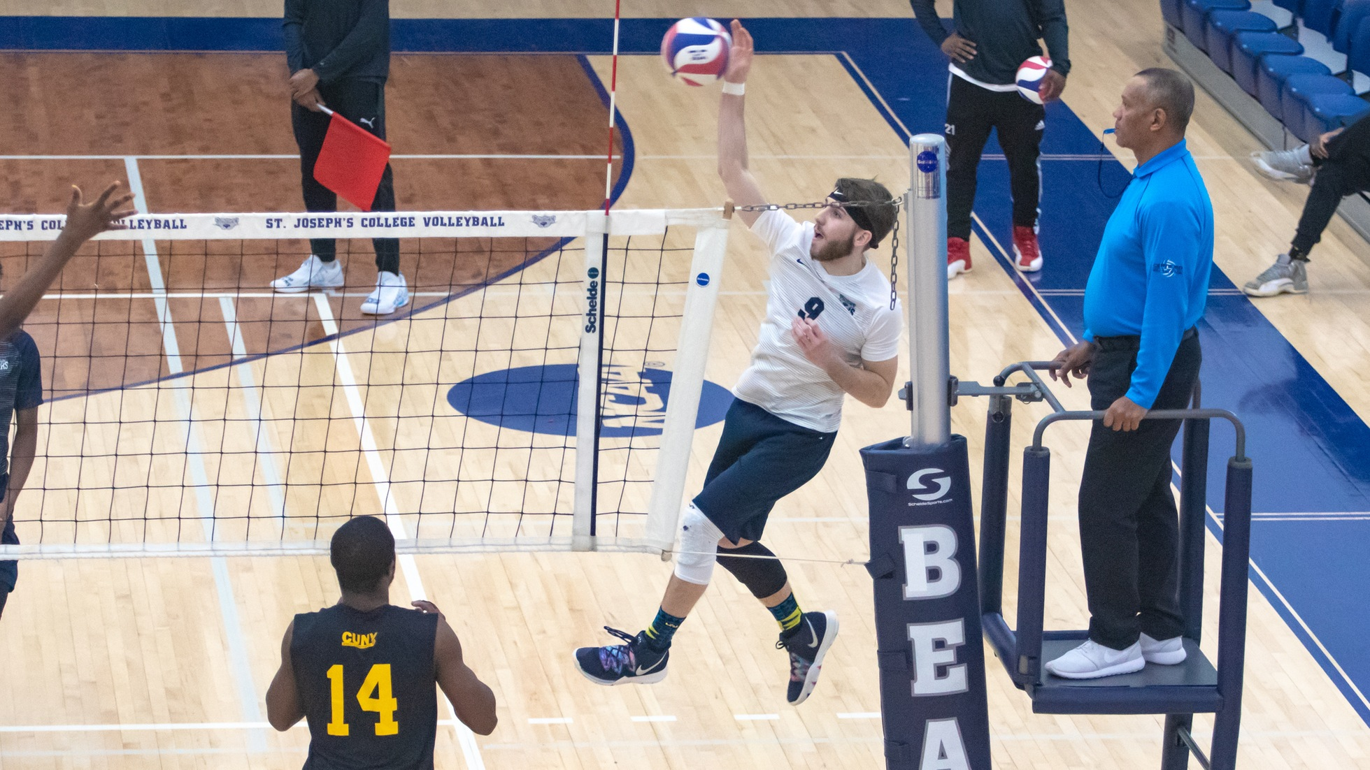 Men's Volleyball Unable to Hand Medgar Evers First Loss