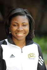Mercedes Jackson qualified first in the 60m and 200m dash
