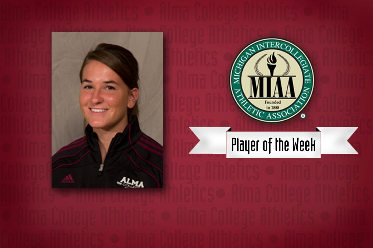 Autumn Root earns MIAA Player of the Week honors