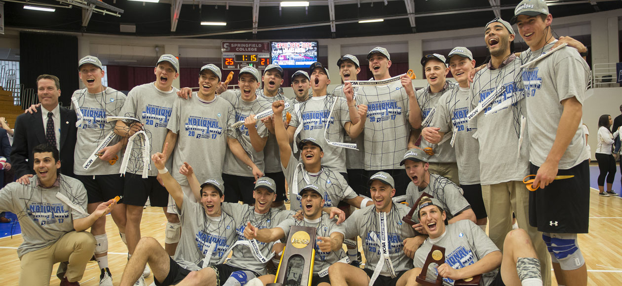 NATIONAL CHAMPIONS - MEN'S VOLLEYBALL WINS 2017 NCAA DIVISION III CHAMPIONSHIP
